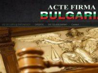 Acte firma bulgaria - www.acte-firma-bulgaria.ro