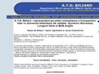 Mese de Biliard - Sport, Agrement si Jocuri Distractive - www.billiard.ro