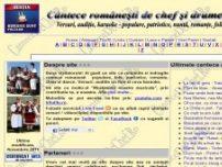 Versuri Cantece Romanesti - populare, patriotice, folk, romante, lautareasca, nunta. Auditie On-line - www.cantecedechef.ro