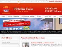 Fidelia Casa Imobiliare Iasi. Vanzari si inchirieri apartamente, spatii, terenur - www.fideliacasa.ro