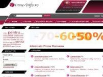 Firme-Info.ro - Informatii Firme - Director Firme Romania, Director Web de Firme - www.firme-info.ro
