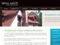 Sisteme de acoperis si tigla metalica Bucuresti - Igloospirit - www.igloospirit.ro