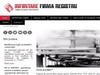 Infiintare firma - www.infiintare-firma-registru.ro