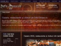 Informatii cazare, restaurante, cluburi - www.info-orase.ro