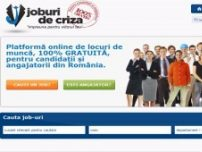 Joburi pe timp de criza - www.joburidecriza.ro